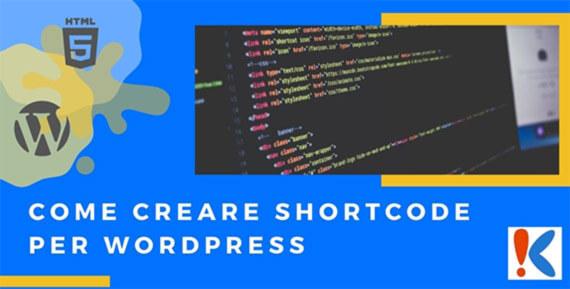 come Creare shortcode per Wordpress senza errori