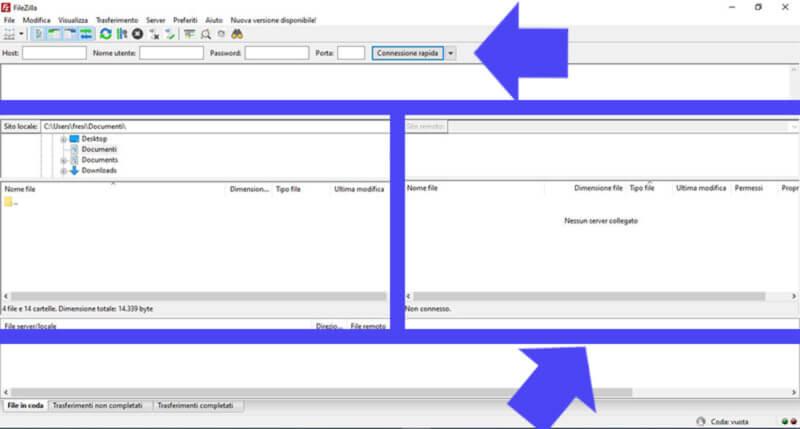 come caricare sito web sul dominio con filezilla