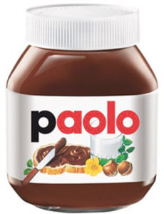 cos'è il packaging del barattolo nutella con nome