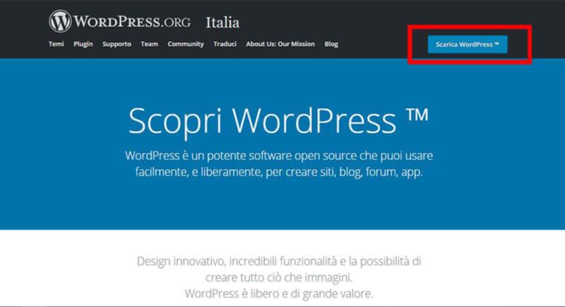come installare wordpress scaricare i file