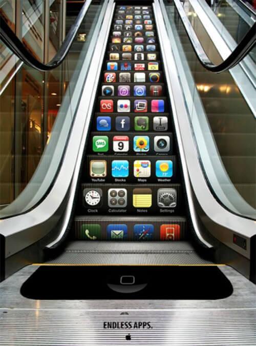 ambient marketing apple scala mobile con infinite app