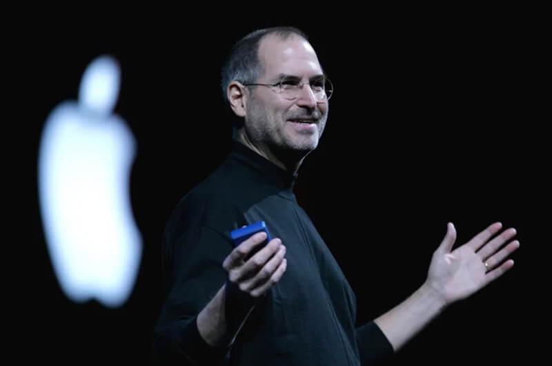marketing Apple Steve Jobs in conferenza
