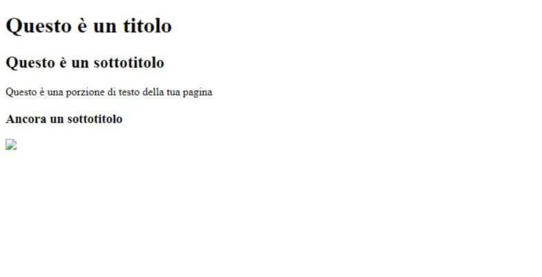 pagina HTML senza stili