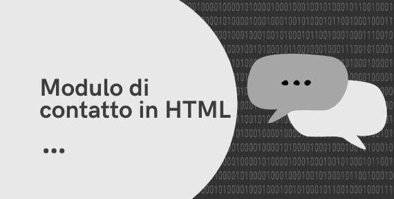 modulo di contatto in HTML