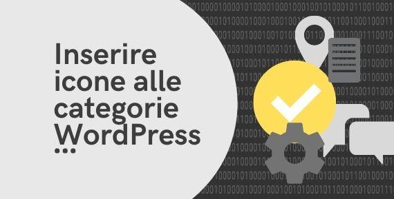 come aggiungere icone alle categorie di wordpress